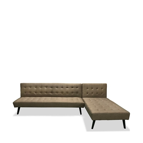 Best And Newest Jual Scarlett Sofa Bed 3S+Chaise Brown – Icreate (View 3 of 15)