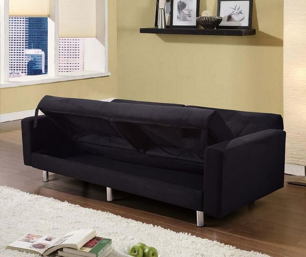 Best And Newest Liberty Sectional Futon Sofas With Storage In Sofa Bed With Storage Compartment, In Faux Leather Or (View 23 of 25)
