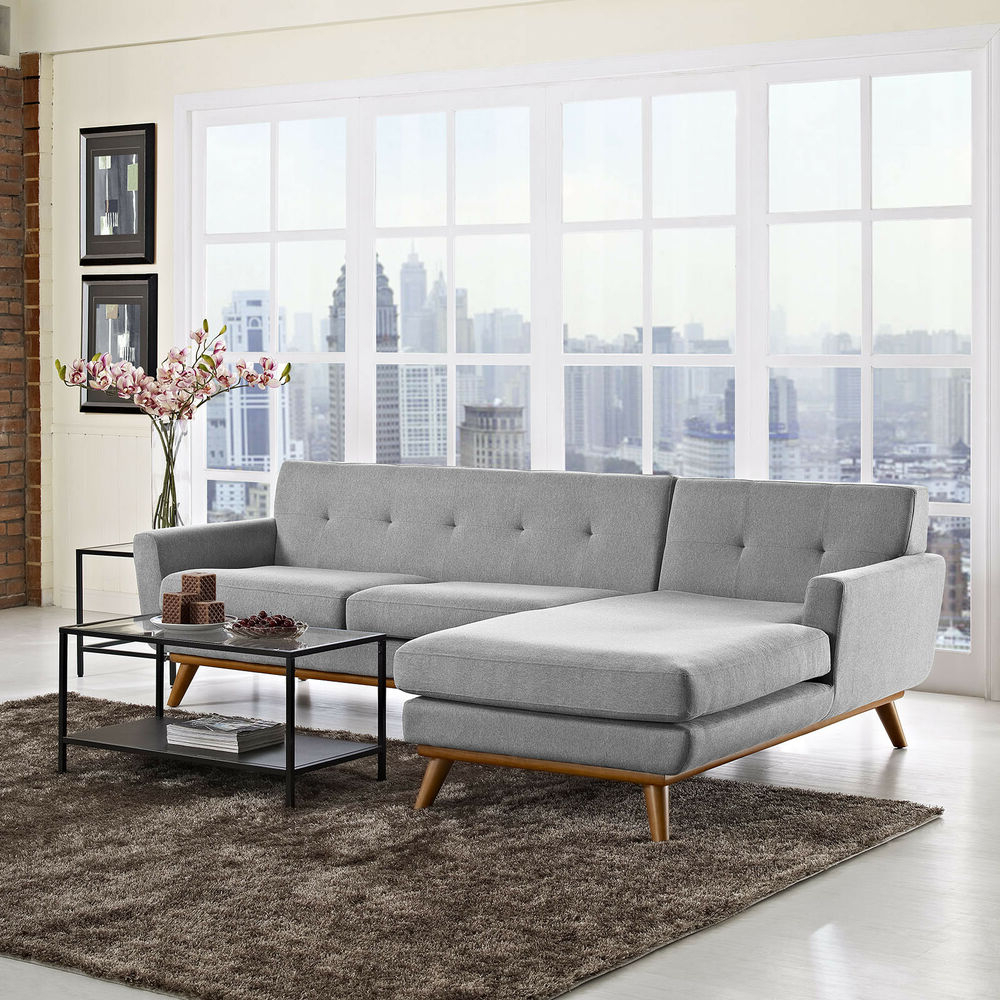 Best And Newest Mid Century Modern Upholstered Left Facing Sectional Sofa With Florence Mid Century Modern Left Sectional Sofas (View 1 of 25)