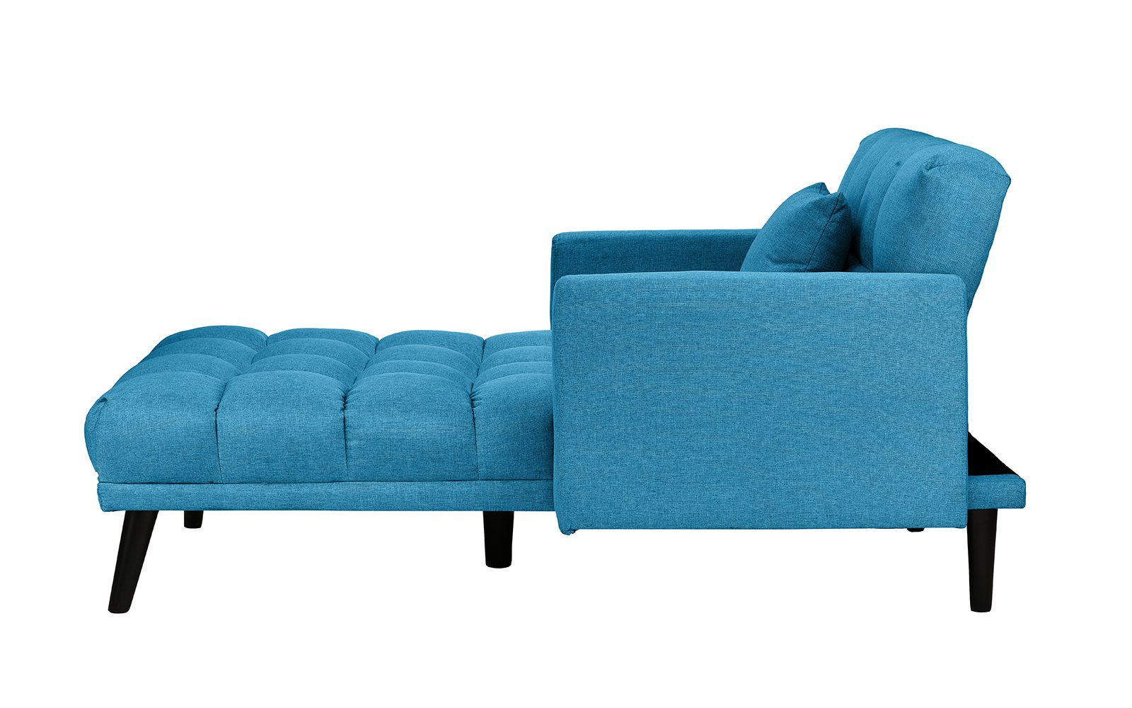 Best And Newest Modern Linen Recliner Sleeper Tufted Chaise Lounge, Single With Regard To Dulce Mid Century Chaise Sofas Dark Blue (View 11 of 25)
