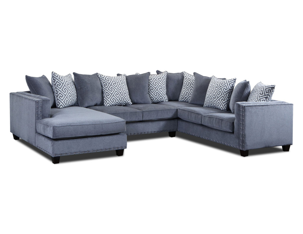 Best And Newest Moonstruck Grey 3 Pc Sectional – Cleo'S Furniture With Regard To 3Pc Polyfiber Sectional Sofas With Nail Head Trim Blue/Gray (View 11 of 25)