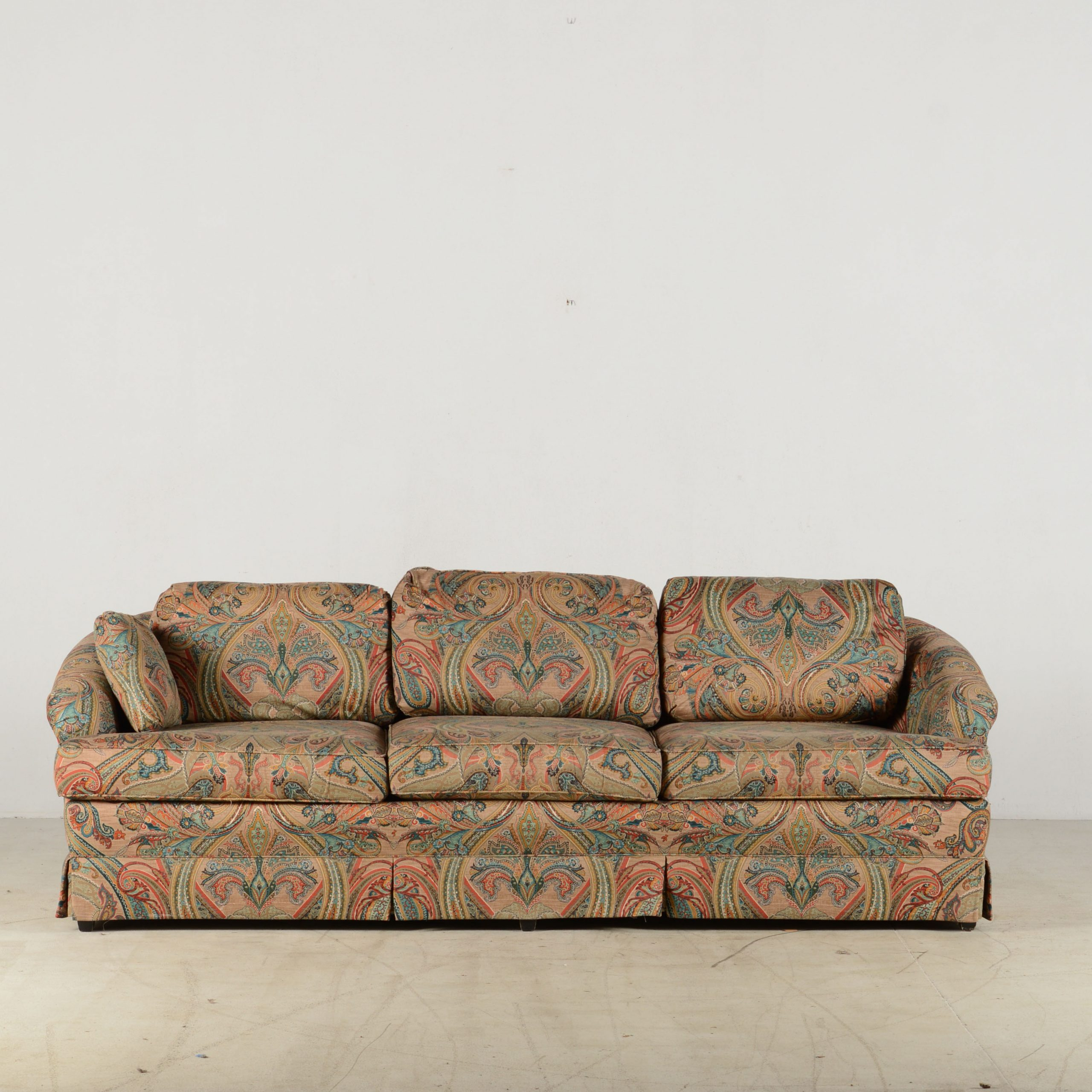 Best And Newest Navigator Manual Reclining Sofas With J Royale Paisley Print Sofa Simple Black And White (View 7 of 15)