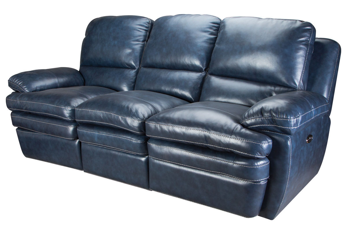 Best And Newest Nolan Leather Power Reclining Sofas Inside Flexsteel Living Room Leather Power Reclining Sofa 135162P (View 11 of 15)