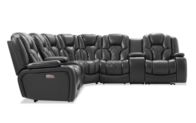 Best And Newest Panther Leather Power Reclining Sofa Console Loveseat In Panther Fire Leather Dual Power Reclining Sofas (View 8 of 15)