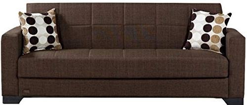 Beyan Sb 2019 Brown Vermont Modern Chenille Fabric Regarding Recent Hugo Chenille Upholstered Storage Sectional Futon Sofas (View 13 of 25)