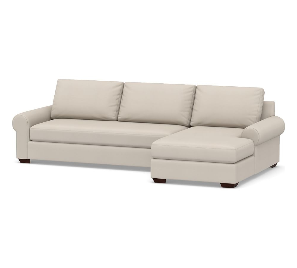Big Sur Roll Arm Upholstered Right Arm Sofa With Chaise Inside Well Liked Dulce Right Sectional Sofas Twill Stone (View 1 of 25)