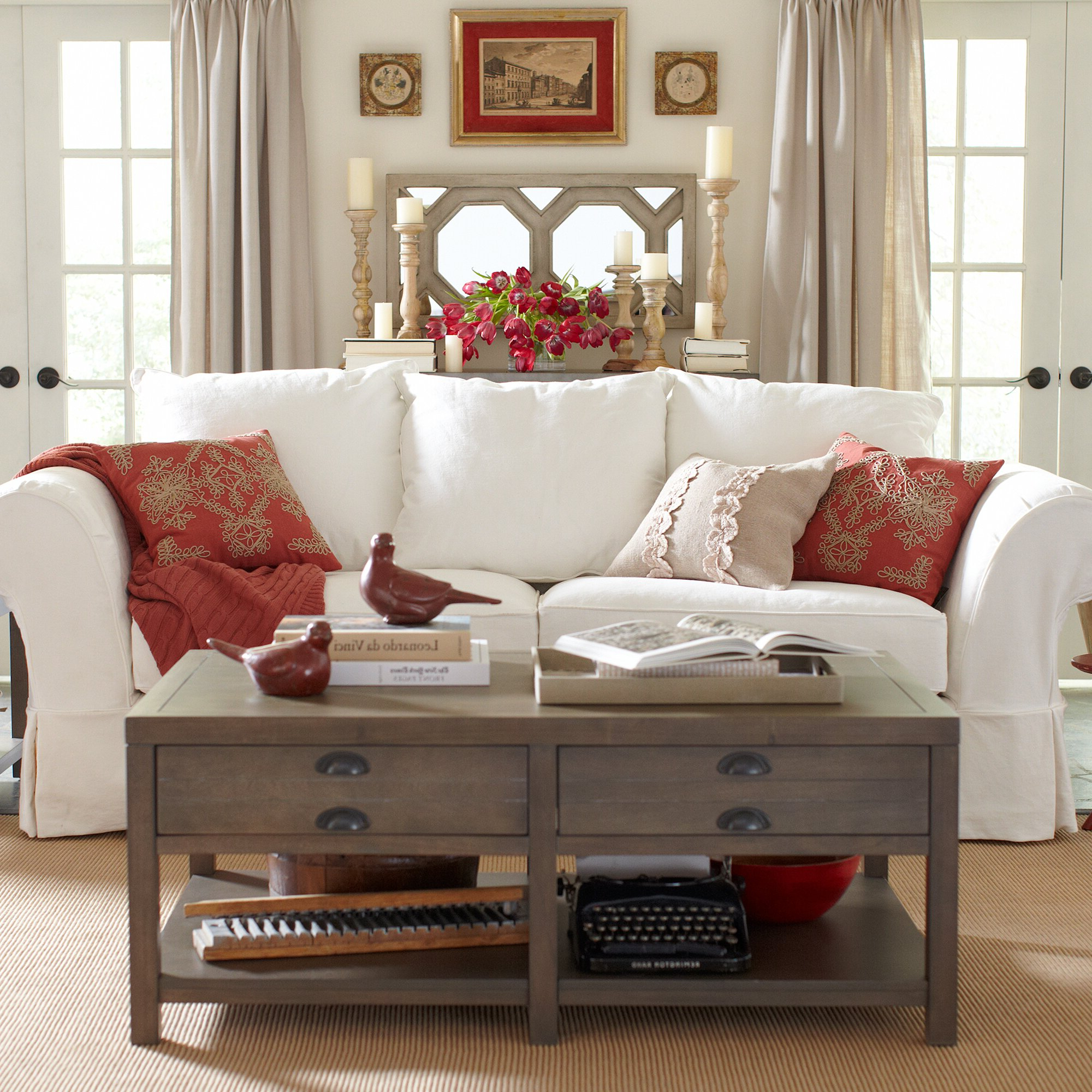 Birch Lane In 2018 Camila Poly Blend Sectional Sofas Off White (View 3 of 25)