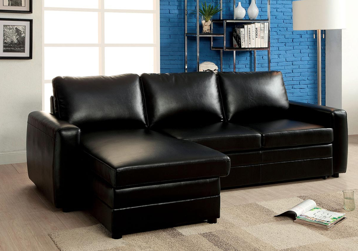 Black Convertible Sofa Bed Sectional  Umf6313 Within Well Known Hartford Storage Sectional Futon Sofas (View 7 of 25)