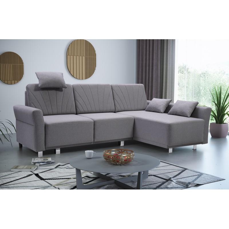 Bmf Molly Modern Corner Sofa Bed Storage Chrome Legs Regarding Famous Hartford Storage Sectional Futon Sofas (View 9 of 25)