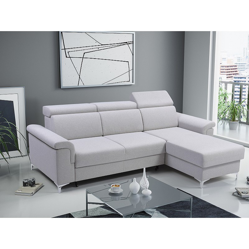 Bmf Vermont Modern Corner Sofa Bed Storage Chrome Legs In Newest Celine Sectional Futon Sofas With Storage Reclining Couch (View 9 of 25)