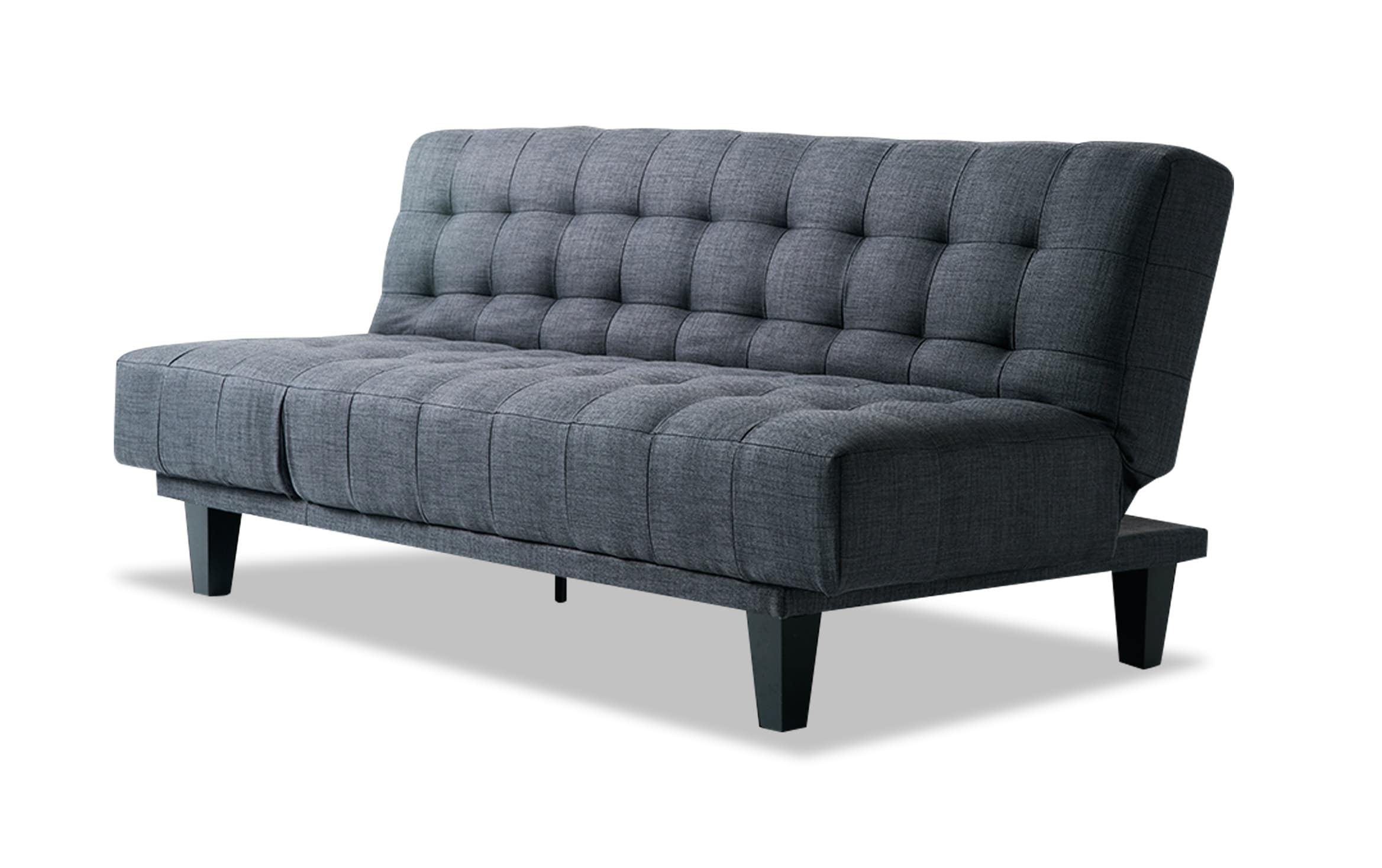 Bobs Furniture Futon Bed Intended For Well Known Antonio Light Gray Leather Sofas (View 9 of 15)