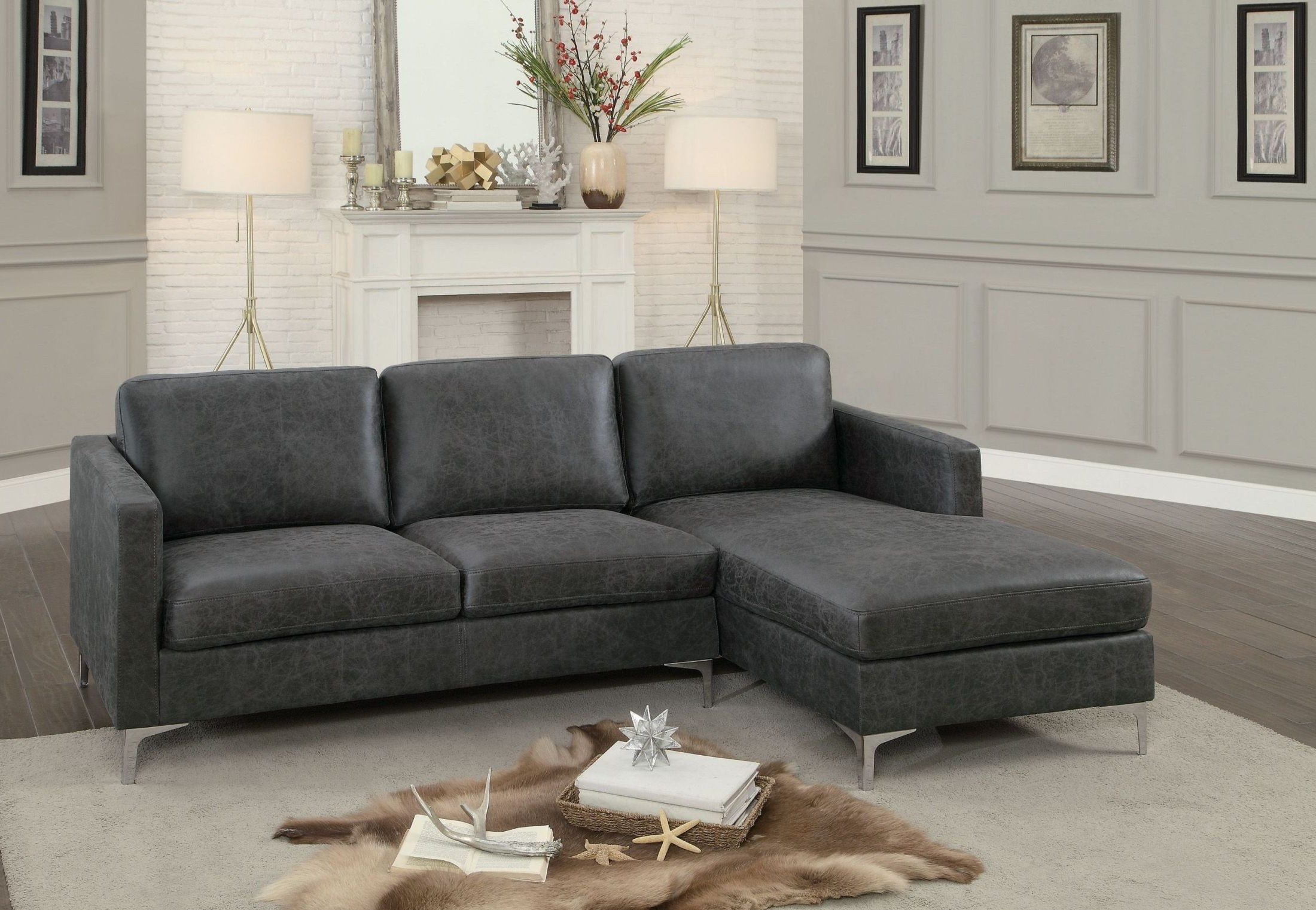 Breaux Grey Sectional Sofa From Homelegance (View 3 of 15)
