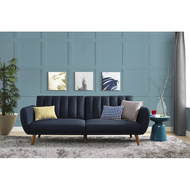 Brittany Sectional Futon Sofas Pertaining To Well Known Novogratz Brittany Convertible Sofa & Reviews (View 13 of 25)