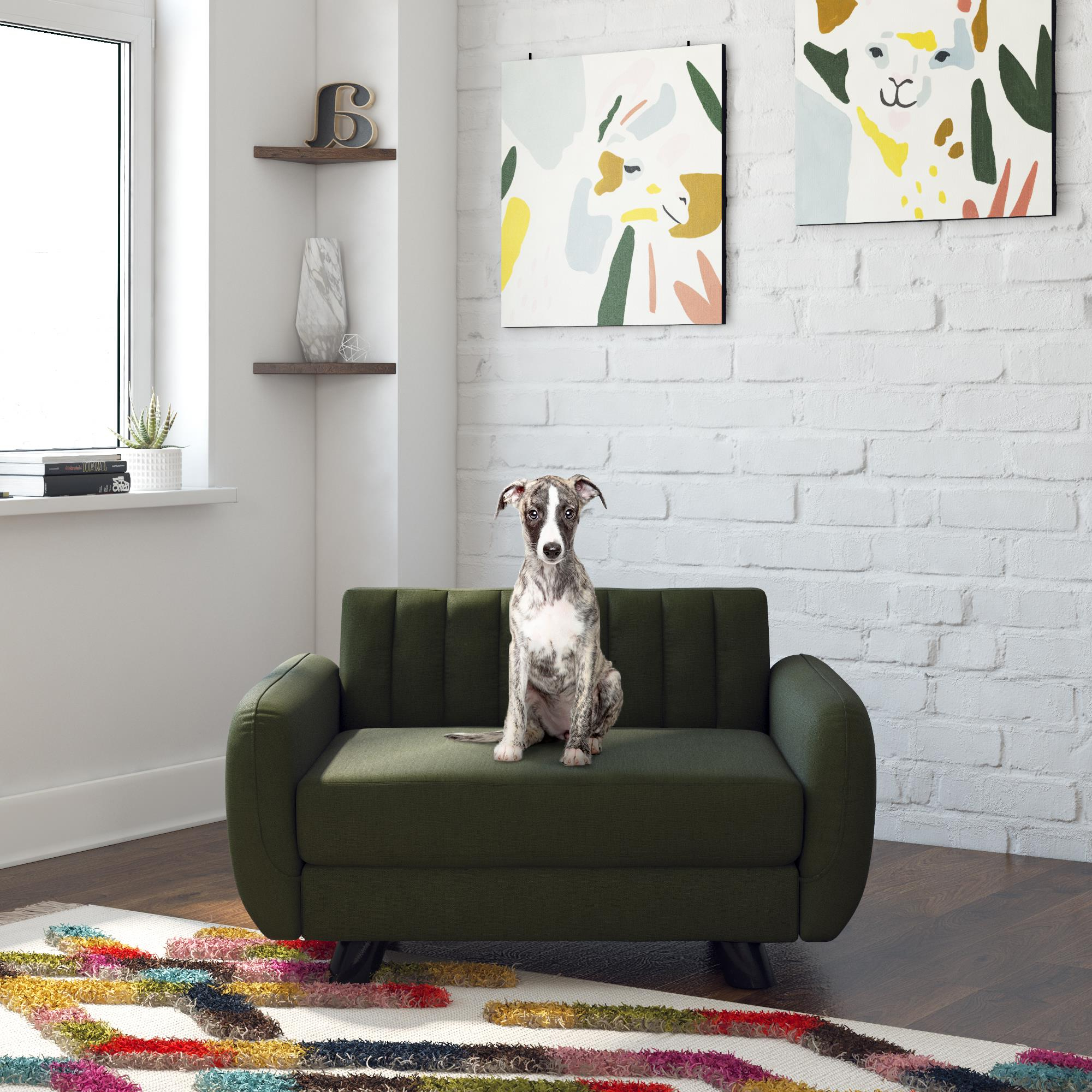 Brittany Sectional Futon Sofas Throughout 2018 Novogratz Brittany Pet Sofa, Small/Medium Pet Bed, Green (View 24 of 25)