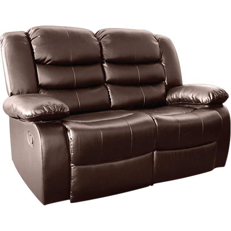 Brown Bonded Leather 2 Seater Recliner Lounge Chair (View 19 of 25)
