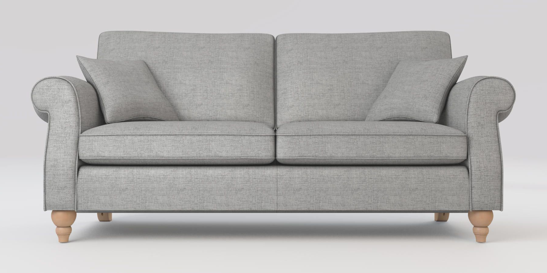 Calvin Concrete Gray Sofas Pertaining To 2018 Buy Ashford Firm Sit Large Sofa (3 Seats) Textured Weave (View 13 of 15)