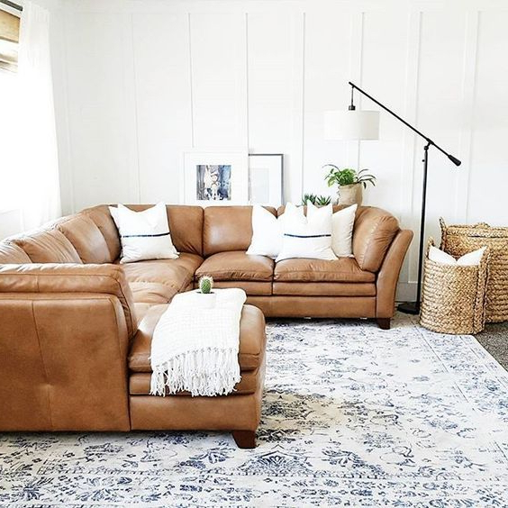 Camel Brown Leather 3 Piece Sectional Sofa Sierra – Sofa Pertaining To Newest 3Pc Faux Leather Sectional Sofas Brown (View 22 of 25)