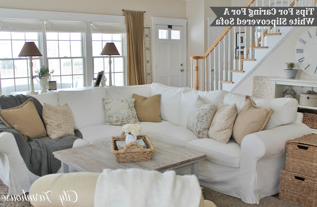Camila Poly Blend Sectional Sofas Off White Regarding Newest Beaux R'Eves: Pottery Barn Knock Off Jcpenney Slipcovered (View 21 of 25)