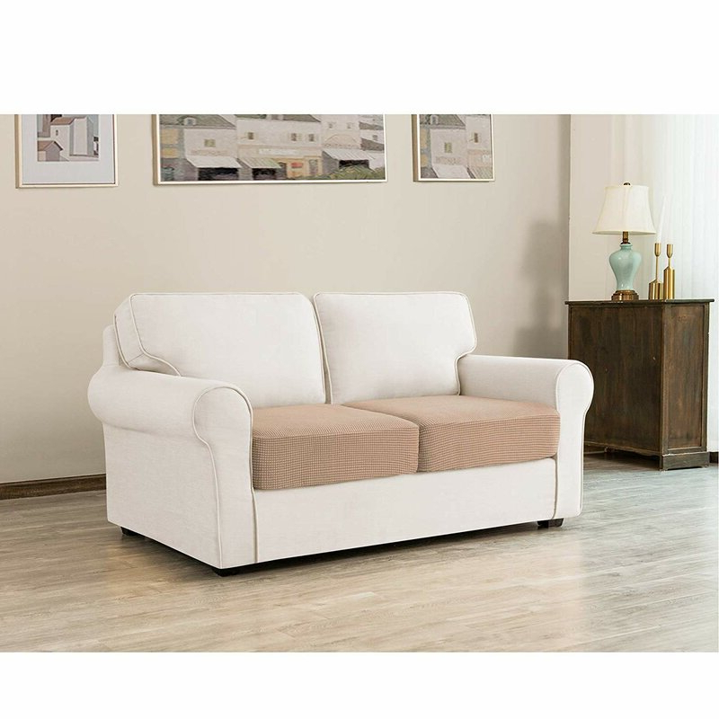 Camila Poly Blend Sectional Sofas Off White Throughout Famous Winston Porter Stretch Textured Grid Box Cushion Loveseat (View 5 of 25)