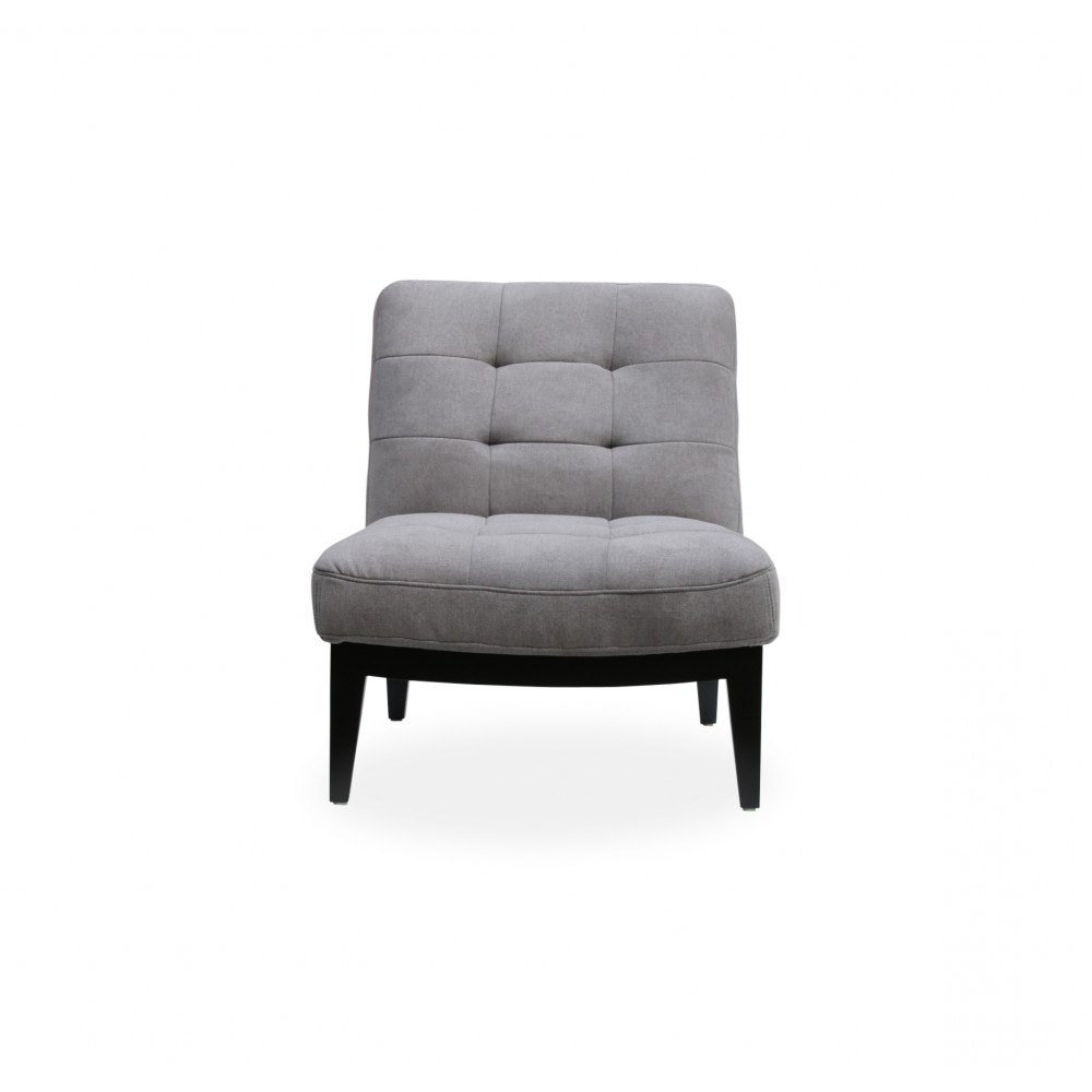 Canyon Lounge Chair Light Grey Fabric Inside Favorite Antonio Light Gray Leather Sofas (View 7 of 15)