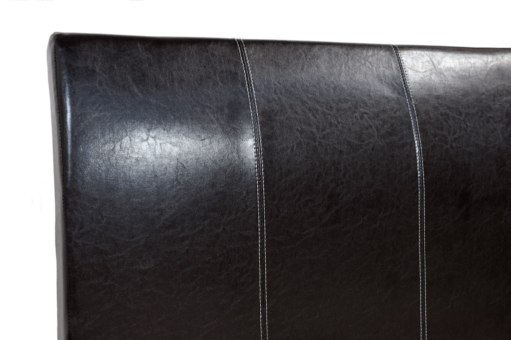 Celine Faux Leather Bed In Black Or Brown Colours Intended For Most Recent Celine Sectional Futon Sofas With Storage Camel Faux Leather (View 25 of 25)