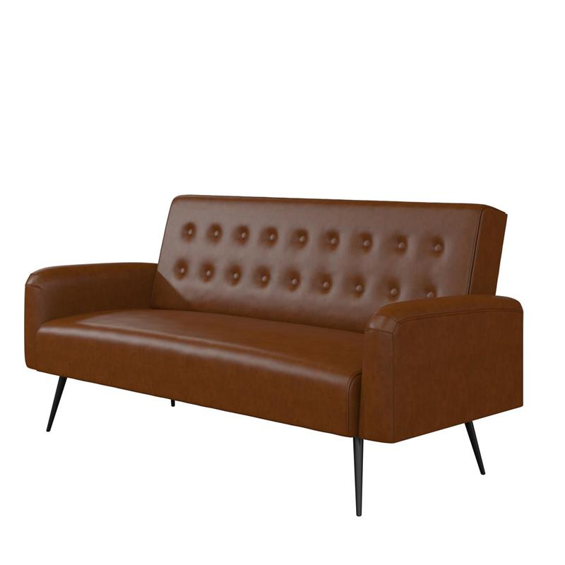 Celine Sectional Futon Sofas With Storage Camel Faux Leather Inside Preferred Futons: Shop Futon Beds For Sale Online At Clearance Prices (View 1 of 25)