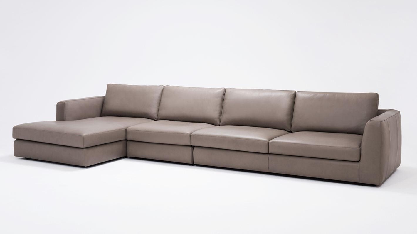 Cello 3 Piece Sectional Sofa With Chaise – Leather (View 2 of 25)