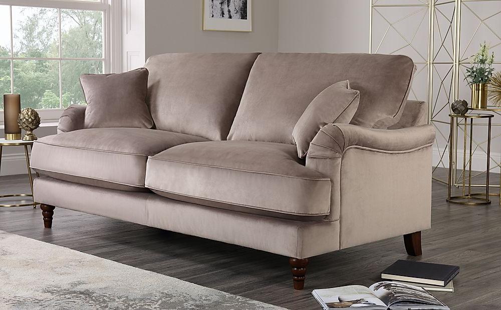Charleston Mink Velvet 3 Seater Sofa (View 1 of 15)