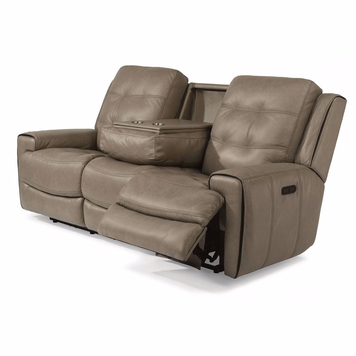 Charleston Power Reclining Sofas Throughout Newest Wicklow Power Reclining Leather Sofa With Power Headrest (View 1 of 15)