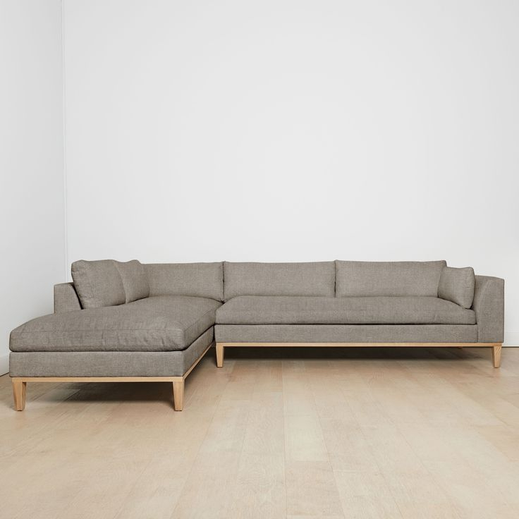 """Charleston Right Facing Sectional Sofa, Flannel 127""""L Pertaining To Popular Charleston Sofas (View 11 of 15)"""