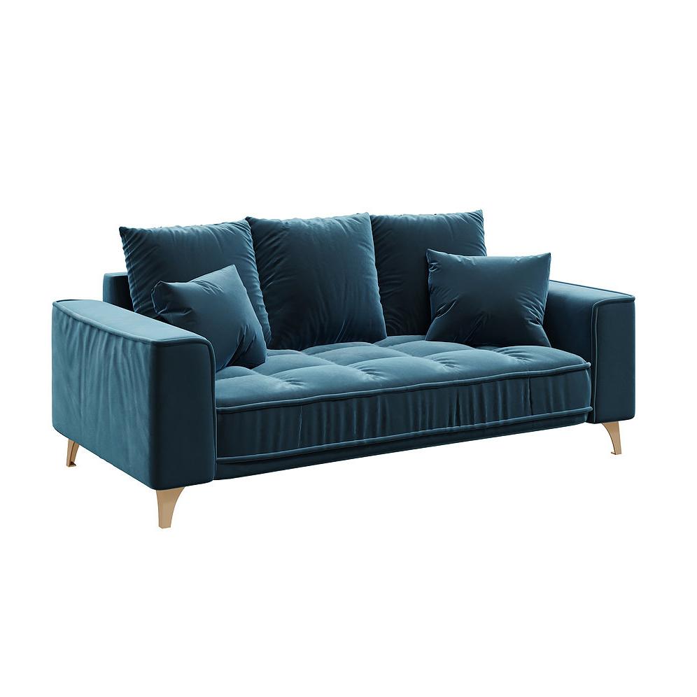 Chloe Dark Navy Blue 2,5 Seater Sofa (View 12 of 15)