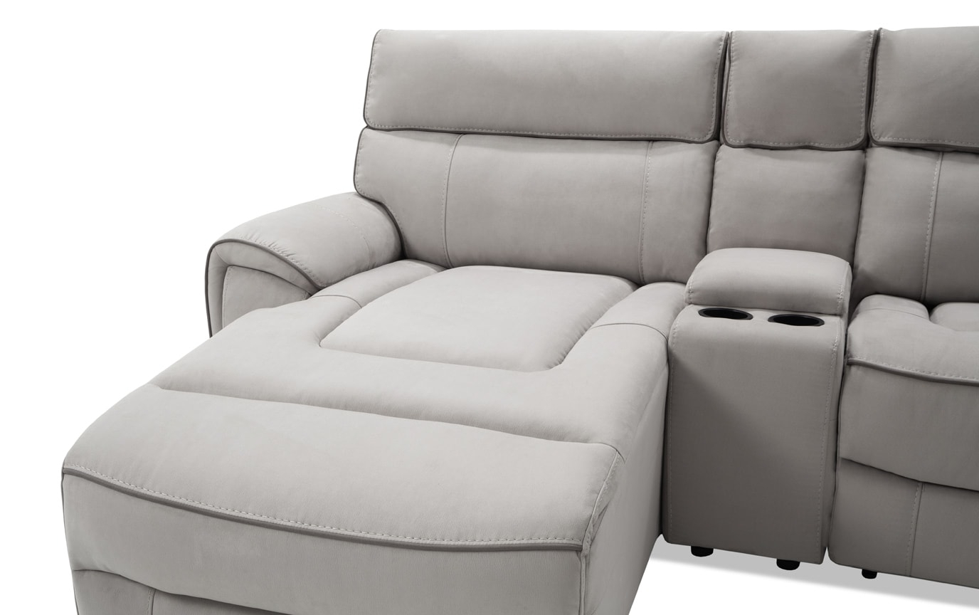 Contempo Power Reclining Sofas With Regard To 2018 Contempo 6 Piece Power Reclining Left Arm Facing Sectional (View 7 of 15)
