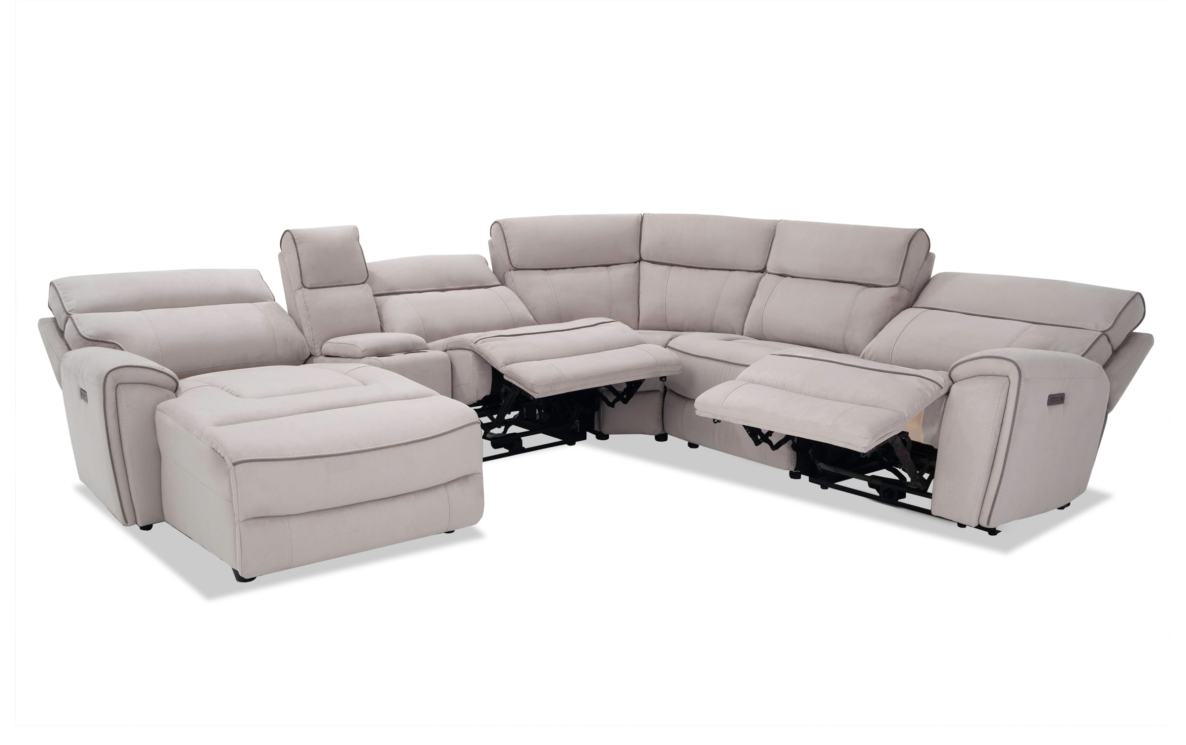 Contempo Power Reclining Sofas With Regard To Favorite Contempo 6 Piece Power Reclining Left Arm Facing Sectional (View 5 of 15)