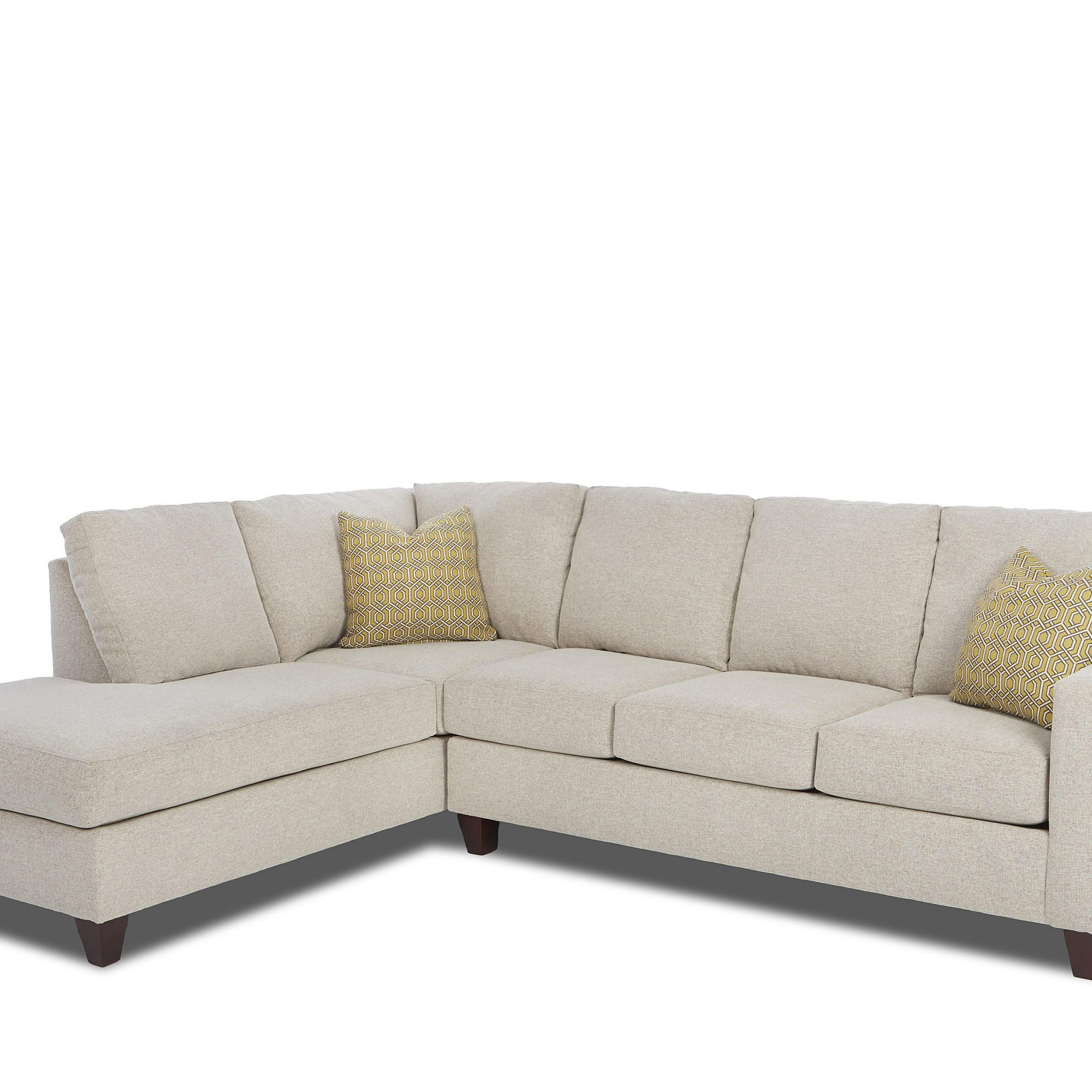 Contemporary 2 Piece Sectional With Right Arm Facing Sofa In Famous Hannah Right Sectional Sofas (View 21 of 25)