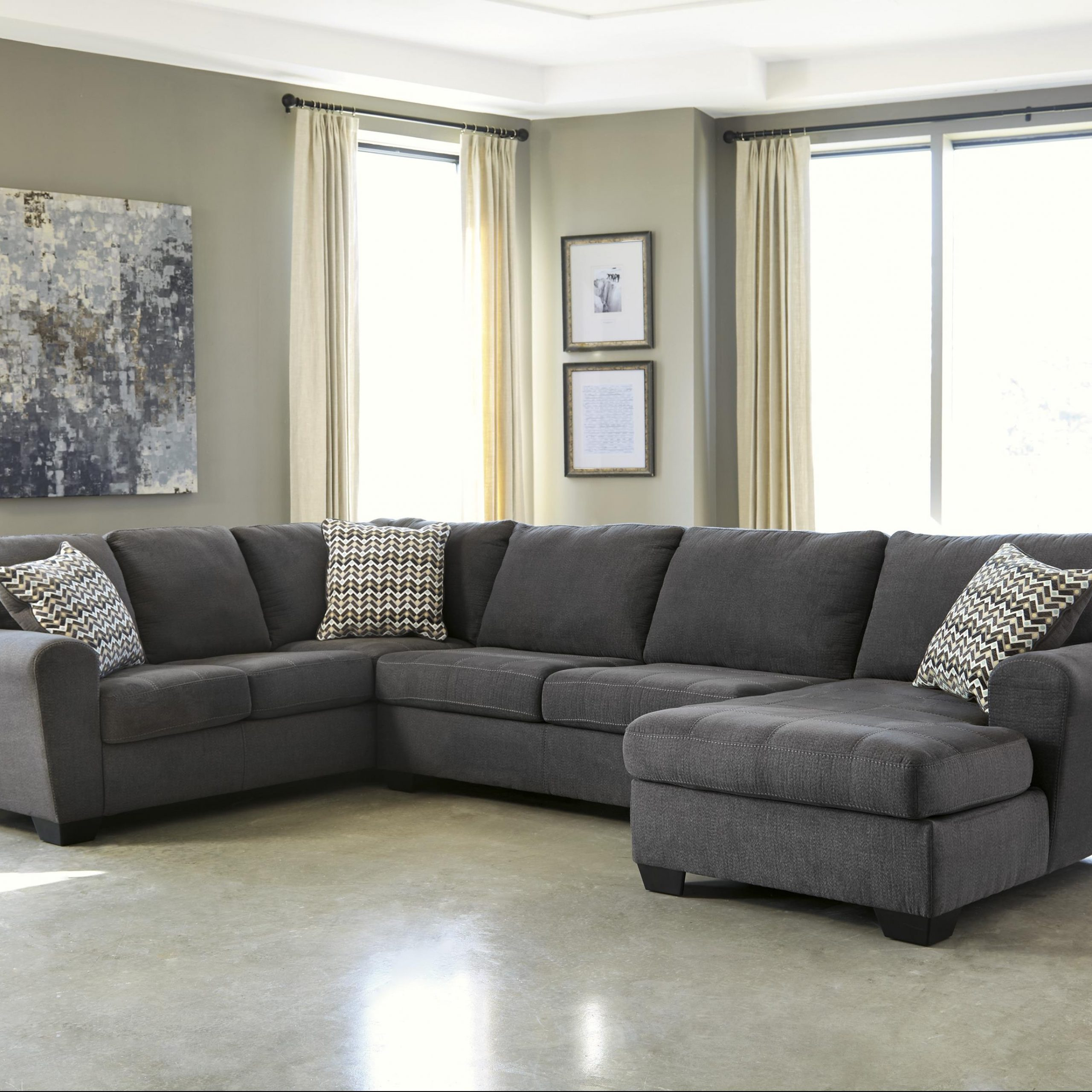 Contemporary 3 Piece Sectional With Left Chaise With Regard To Current 4Pc Crowningshield Contemporary Chaise Sectional Sofas (View 19 of 25)