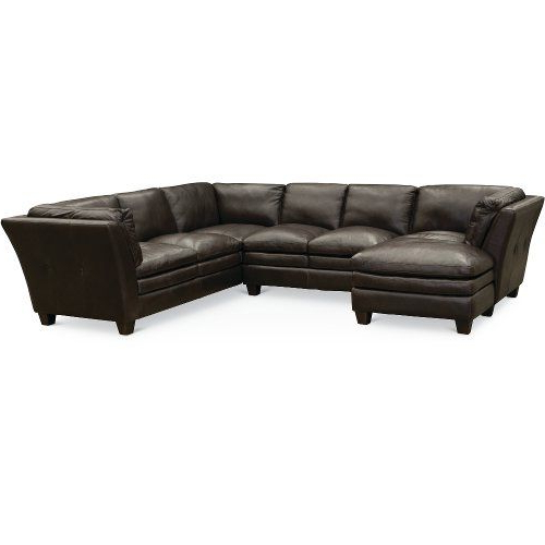 Contemporary Dark Brown Leather 3 Piece Sectional – Capri Regarding Most Recently Released 3Pc Faux Leather Sectional Sofas Brown (View 15 of 25)