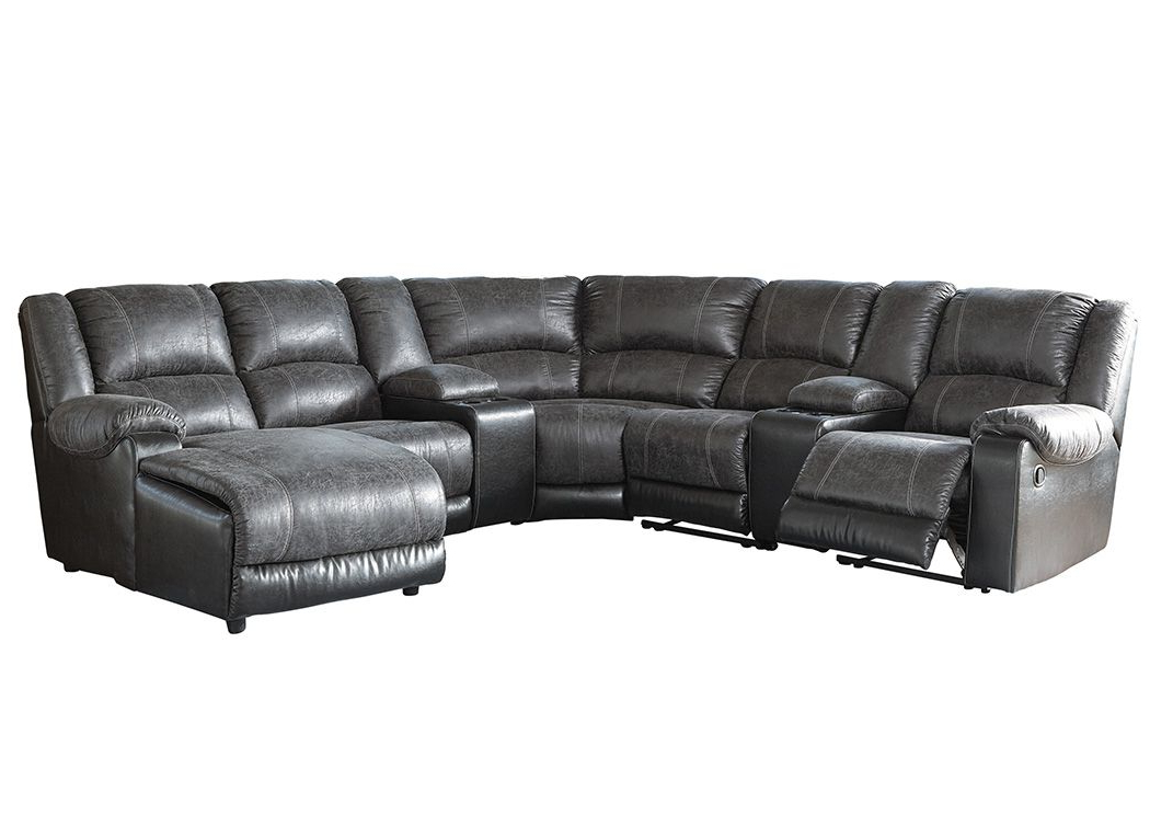 Copenhagen Reclining Sectional Sofas With Right Storage Chaise Inside Most Popular Nantahala Slate Right Facing Corner Chaise Sectional W/ (View 17 of 25)