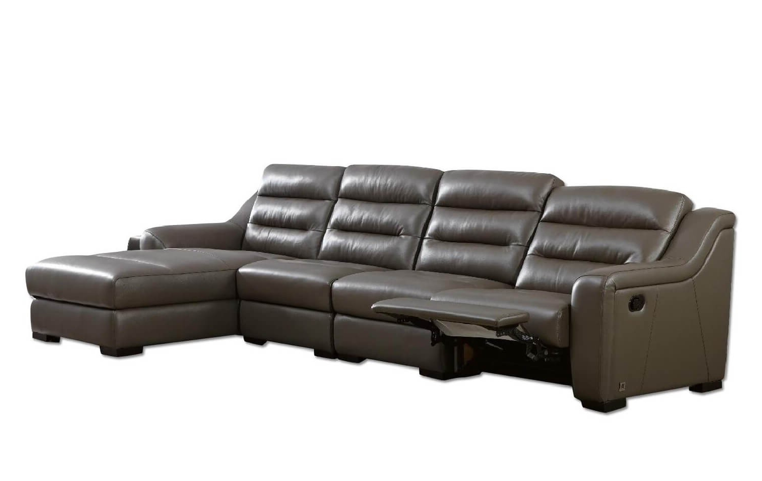 Copenhagen Reclining Sectional Sofas With Right Storage Chaise With Most Recently Released Ludlow Top Grain Leather Match Reclining Sectional, Right (View 23 of 25)