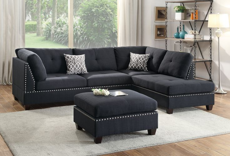 Copenhagen Reversible Small Space Sectional Sofas With Storage Throughout Widely Used 13 Photos Of 3 Piece Sectional Sofa Microfiber With (View 2 of 25)