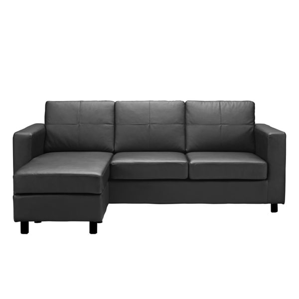 Copenhagen Reversible Small Space Sectional Sofas With Storage Within Well Known Bonded Leather Small Space Sectional Sofa With Reversible (View 12 of 25)