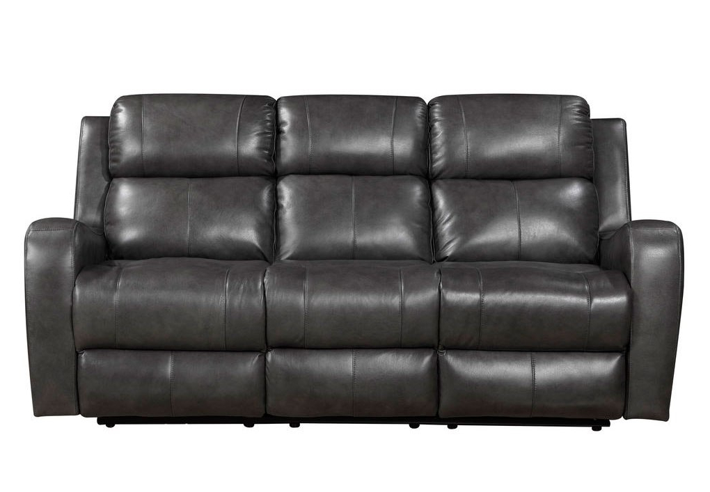 Cortana Power Reclining Sofa (Grey) Leather Italia With Well Liked Pacifica Gray Power Reclining Sofas (View 13 of 15)