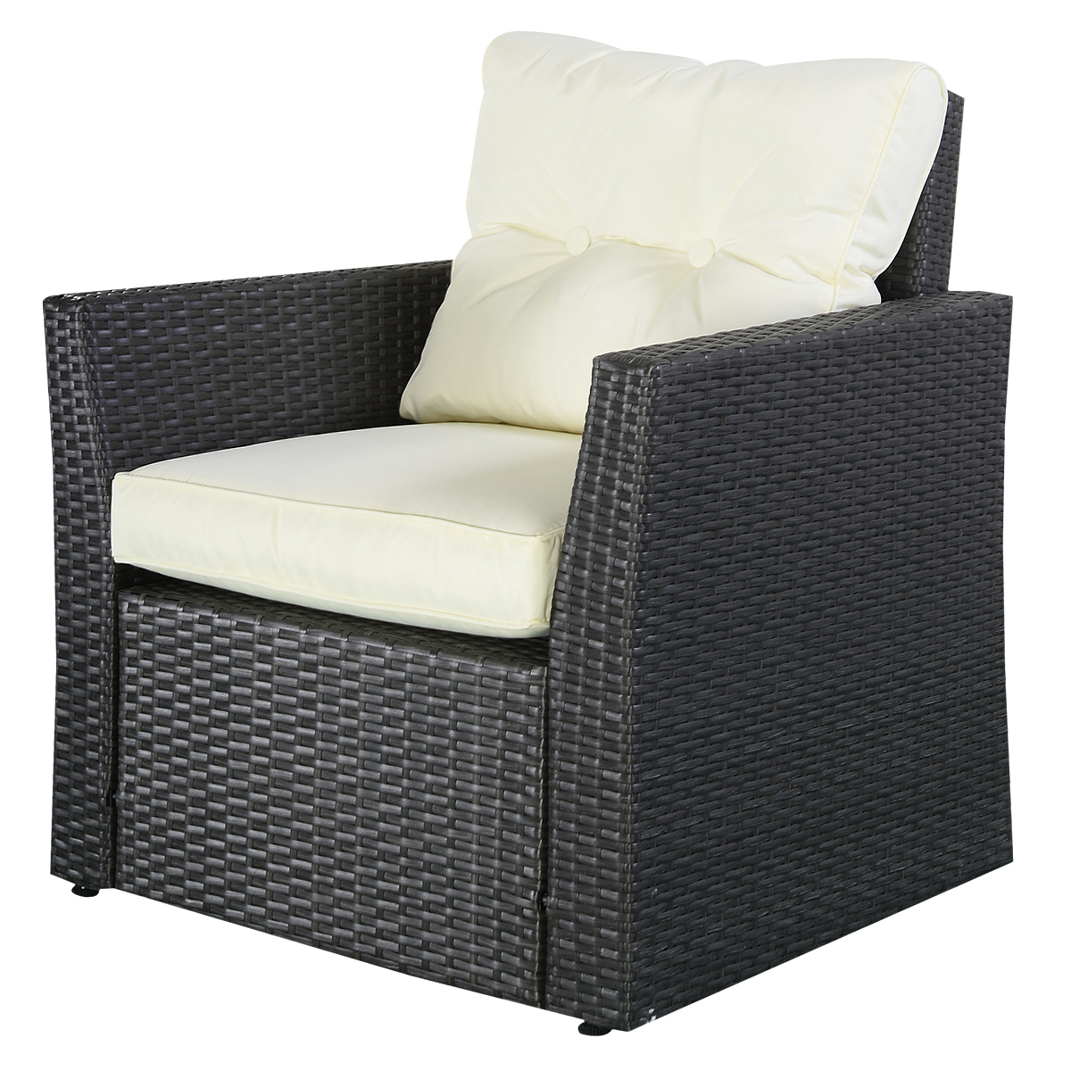Costway 4Pc Rattan Sofa Furniture Set Patio Garden Lawn Intended For 2017 4Pc Beckett Contemporary Sectional Sofas And Ottoman Sets (View 21 of 25)