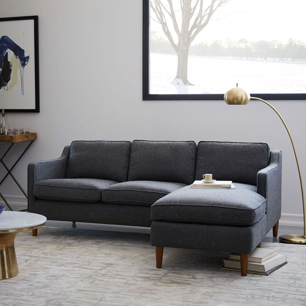 Couches Regarding Well Known 2Pc Connel Modern Chaise Sectional Sofas Black (View 5 of 25)