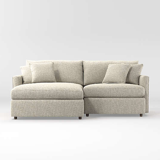 Crate In Best And Newest 2Pc Maddox Right Arm Facing Sectional Sofas With Cuddler Brown (View 2 of 18)
