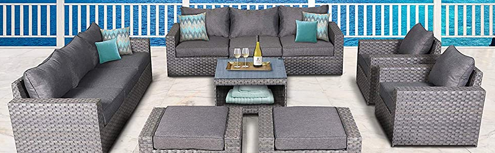 Cromwell Modular Sectional Sofas For Newest Amazon: Sunhaven Resin Wicker Outdoor Patio Furniture (View 19 of 25)
