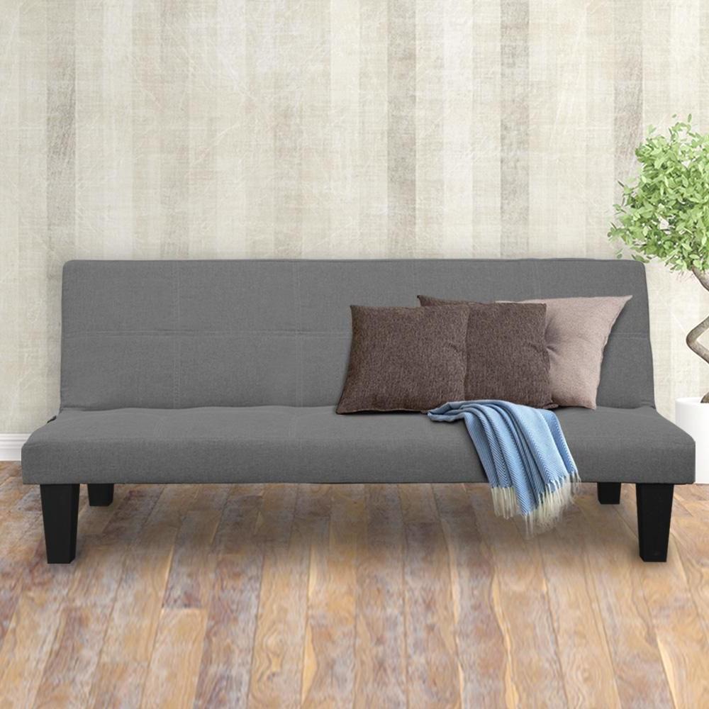 Current 2 Seater Modular Linen Fabric Sofa Bed Couch – Dark Grey Regarding Polyfiber Linen Fabric Sectional Sofas Dark Gray (View 18 of 25)