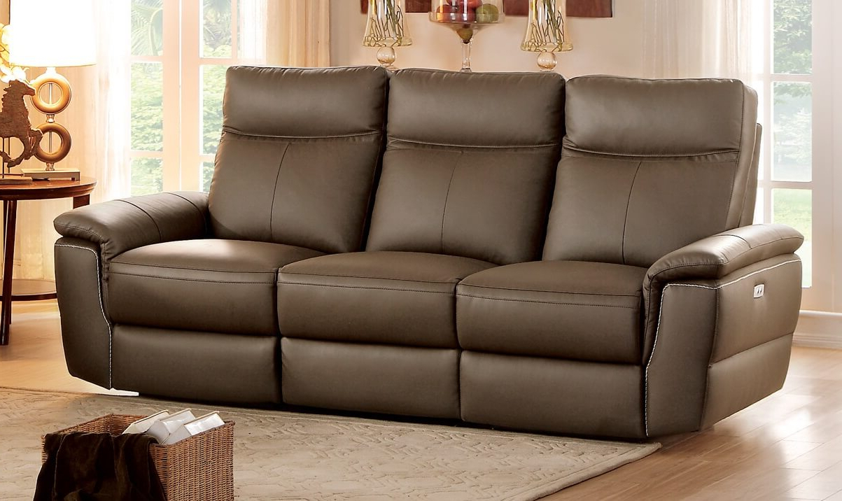 Current Olympia Top Grain Raisin Leather Power Double Reclining Throughout Power Reclining Sofas (View 15 of 15)