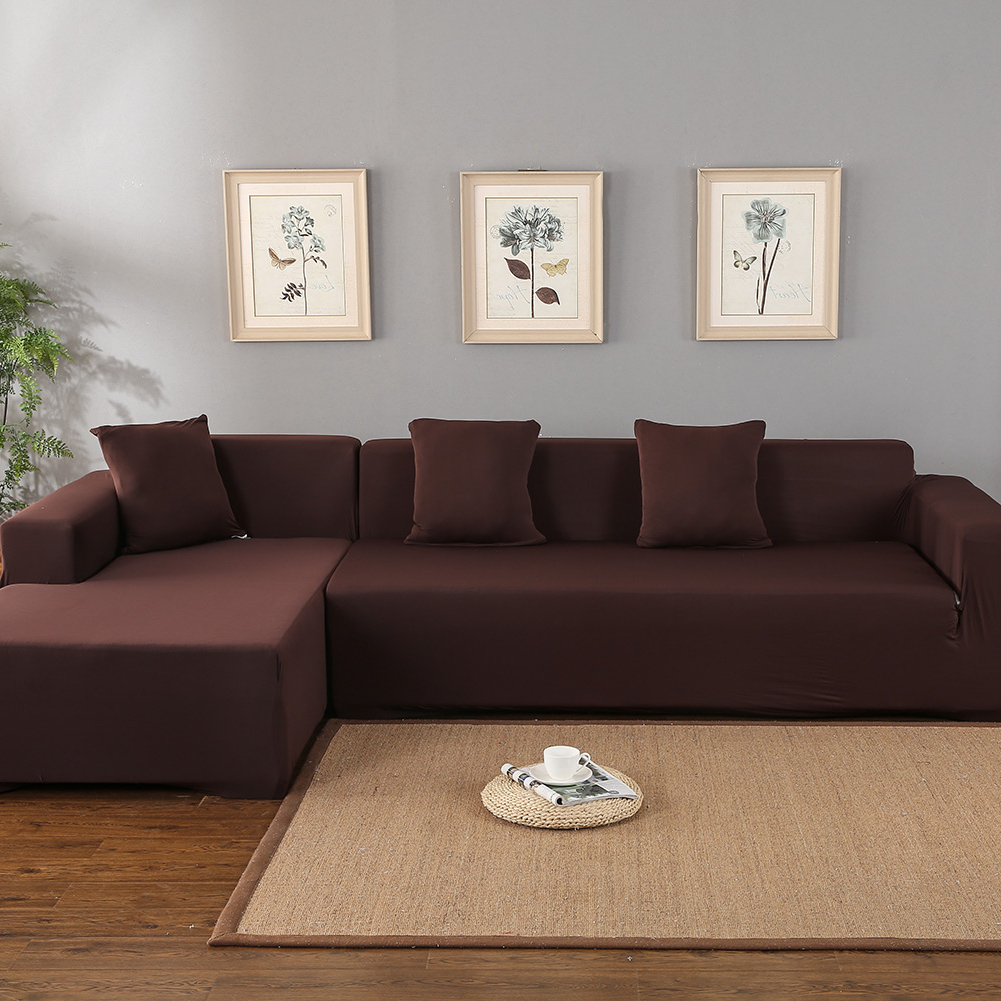 Current Owego L Shaped Sectional Sofas Inside Sofa Covers For L Shape, Polyester Fabric Stretch (View 4 of 25)