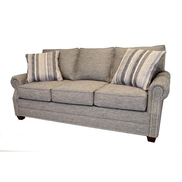 Current Radcliff Nailhead Trim Sectional Sofas Gray Regarding Shop Alston Heather Grey Sofa With Nailhead Trim – Free (View 12 of 25)