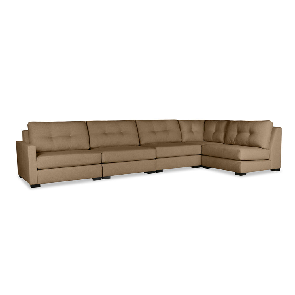 Current Wilton Fabric Sectional Sofas Intended For Wilton Buttoned Modular Left L Shape Sectional (View 1 of 25)